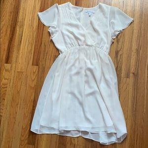 White chiffon BCBG dress L large